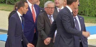 Premier Rutte en president Junker. een paar apart