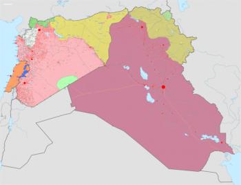Kaart Syrië