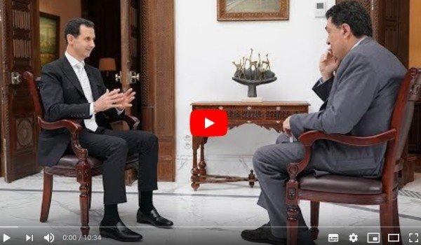 Chemische aanval beschuldiging 'nep': Bashar Al-Assad Interview