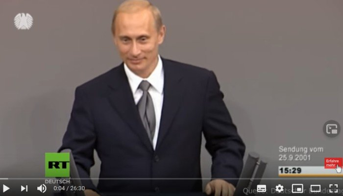 Putins Bondsdag toespraak uit 2001